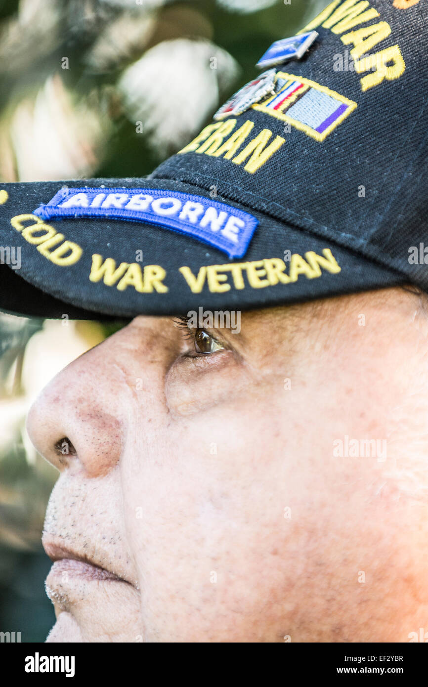 A Korean War veteran who served in the 82nd Airborne division. - Stock Image