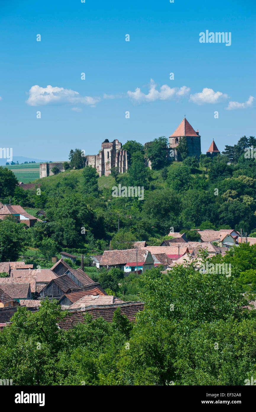 Castle Slimnic, near Sibiu, Romania - Stock Image
