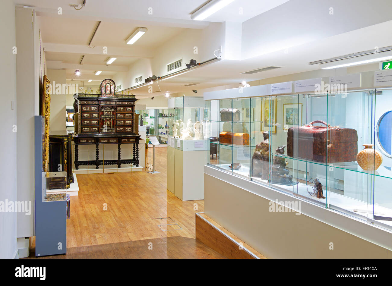 Display in the museum and art gallery, Northampton, Northamptonshire, England UK - Stock Image