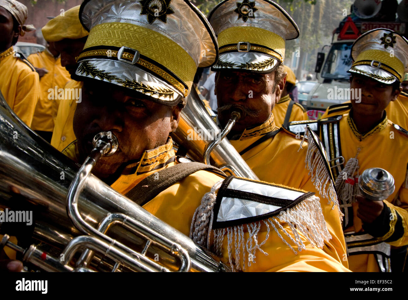 New Delhi, India - November 19, 2011: Sikh people