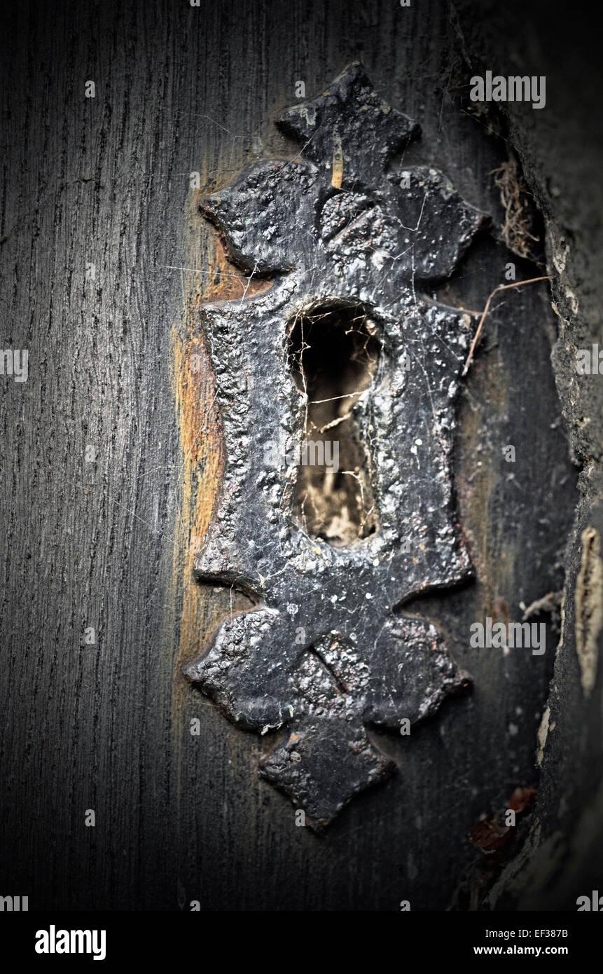 unused keyhole - Stock Image