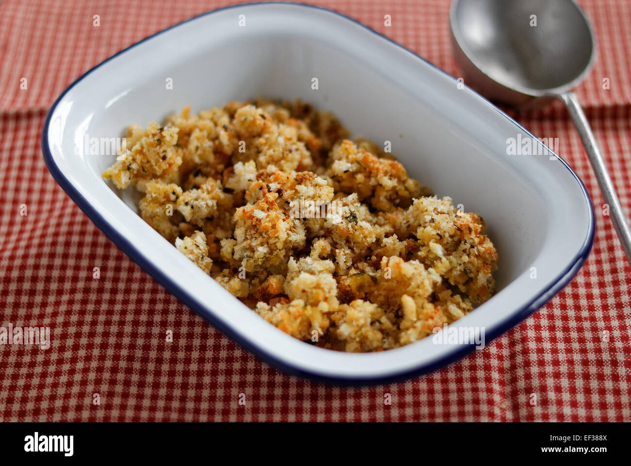 Bread stuffing - Stock Image