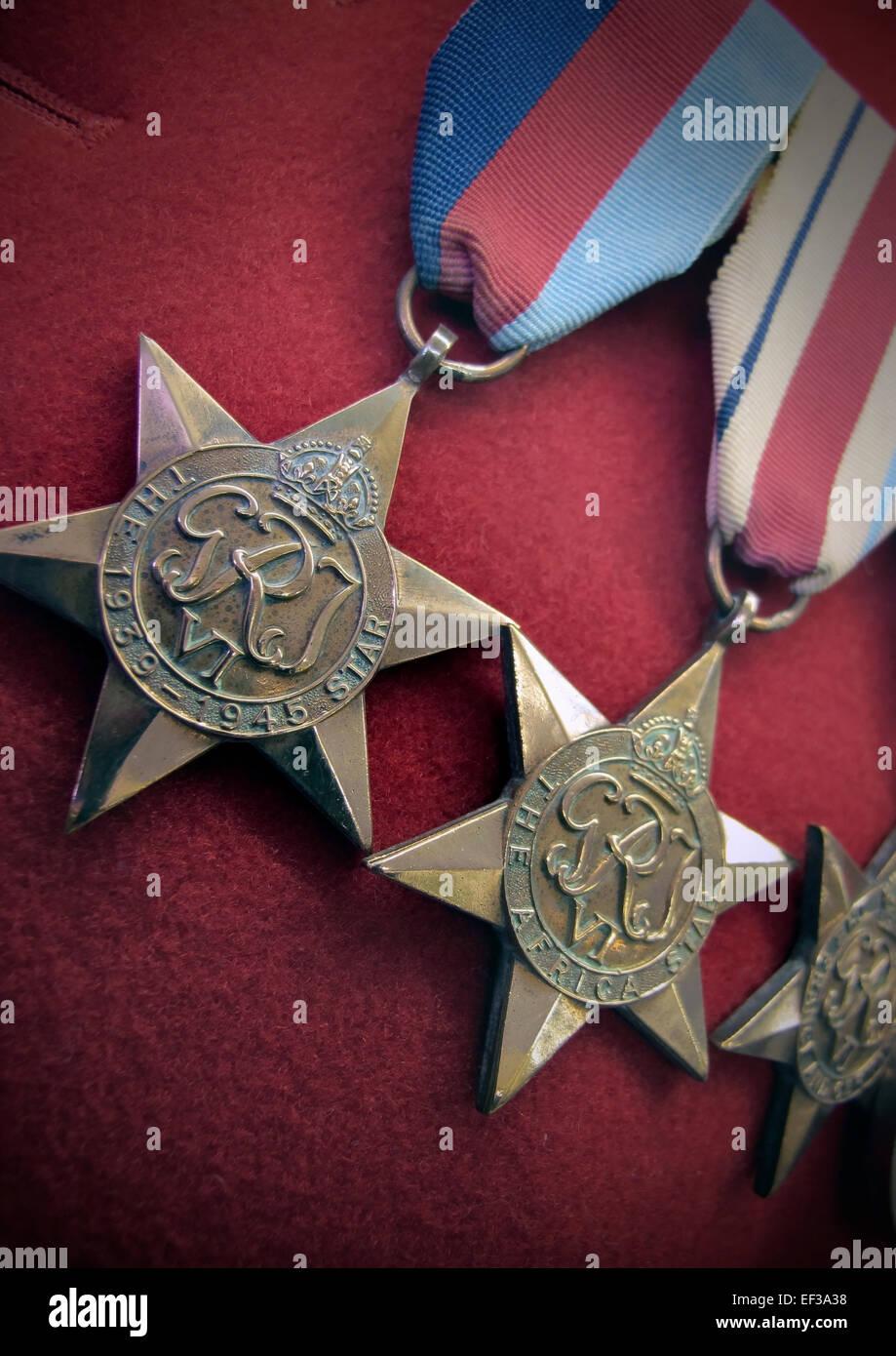 war medals - Stock Image
