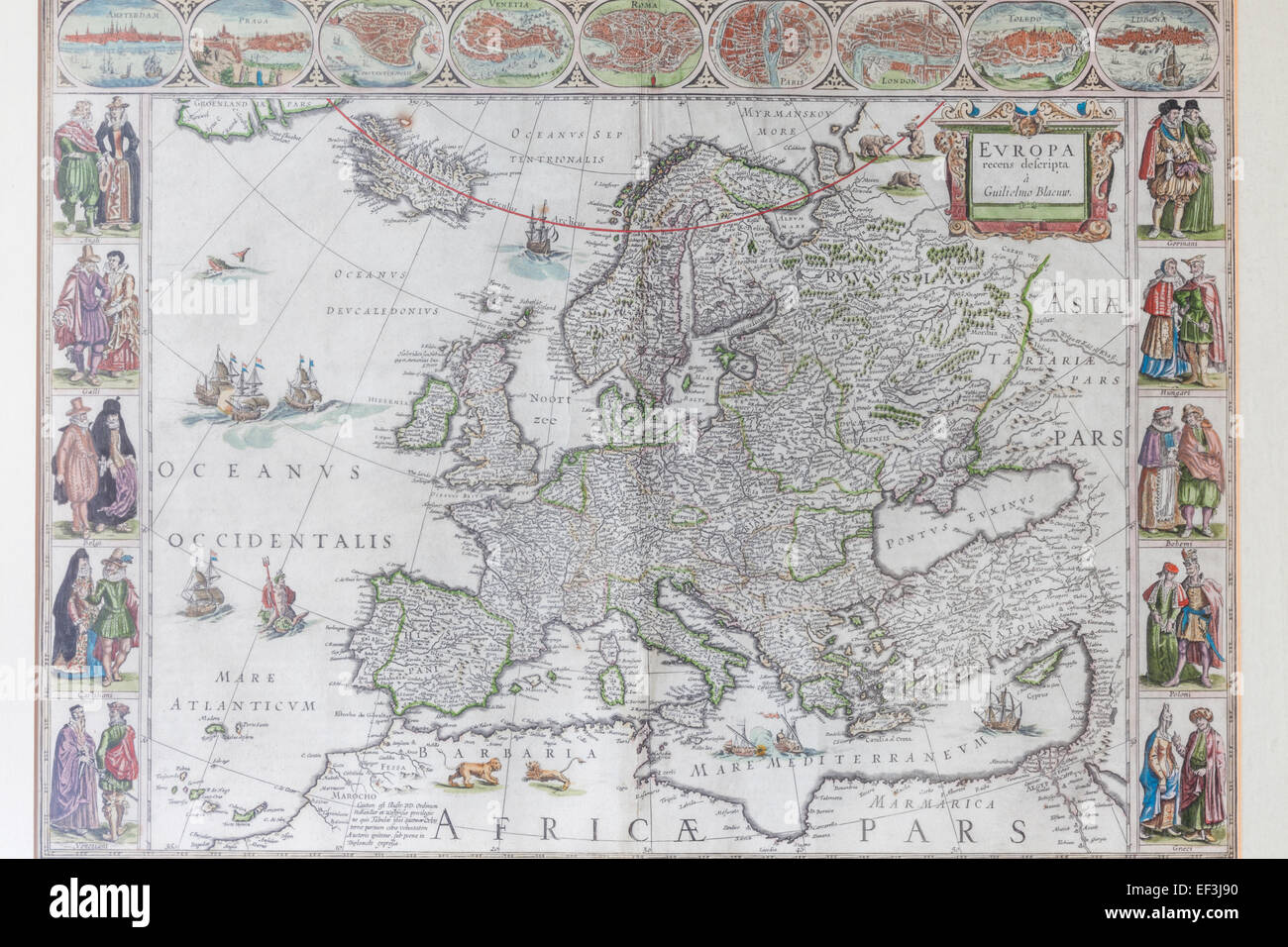 Maps Of Europe 16th 17th Centuries Map A How Europe Was Divided