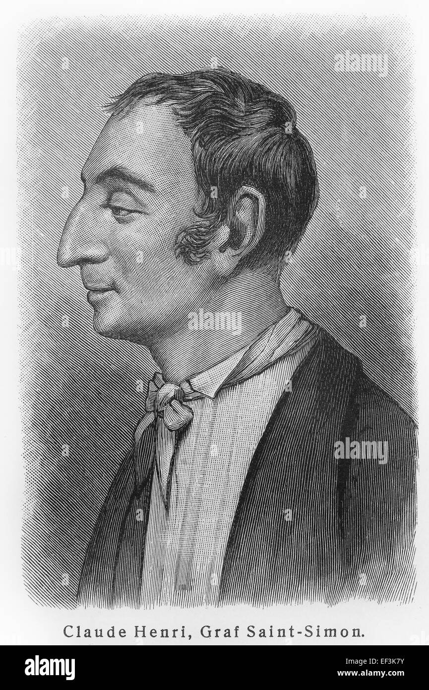 Claude Henri de Rouvroy, comte de Saint-Simon - Stock Image