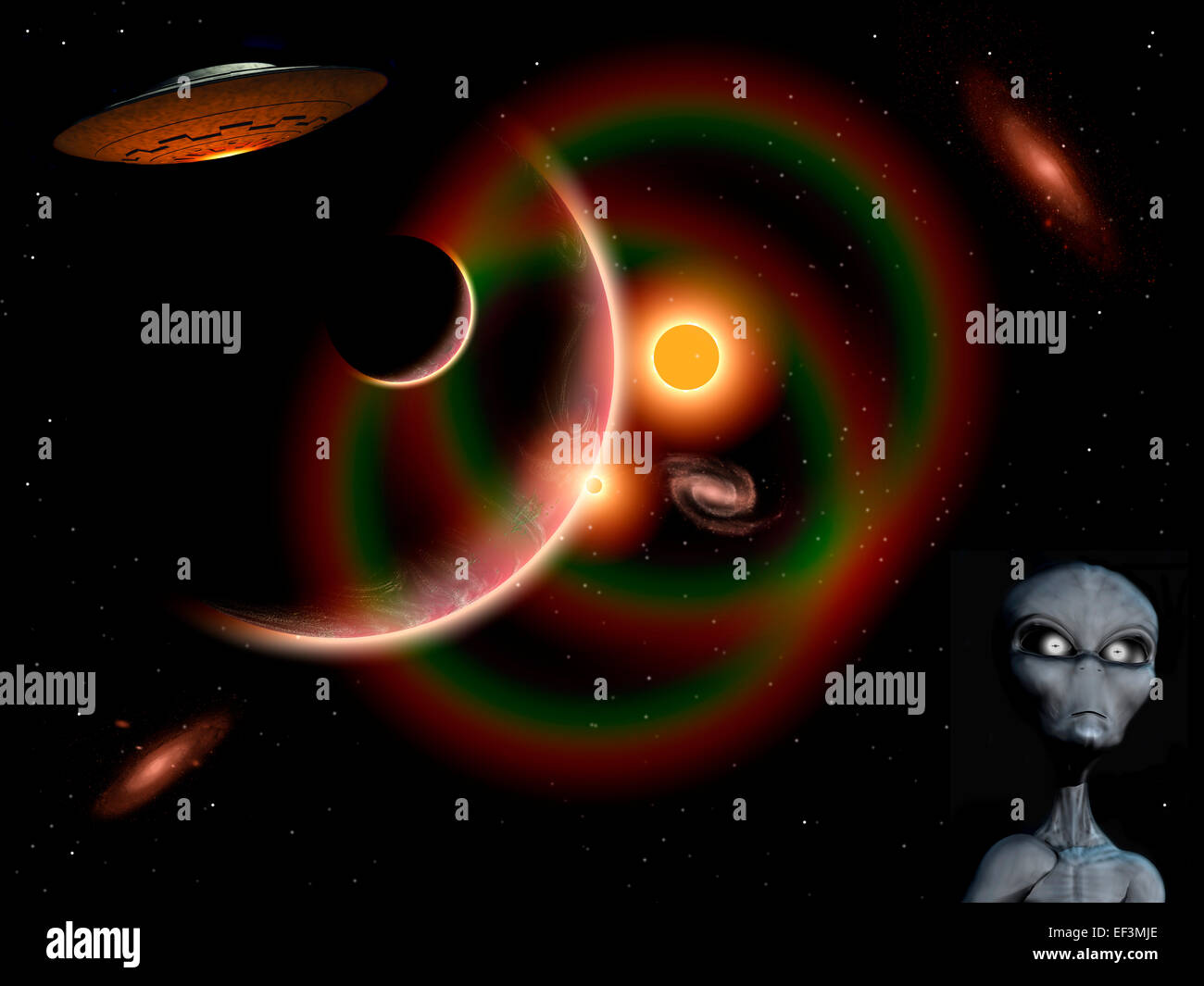 Grey Aliens From The Zeta Reticuli Star System Stock Photo: 78143366