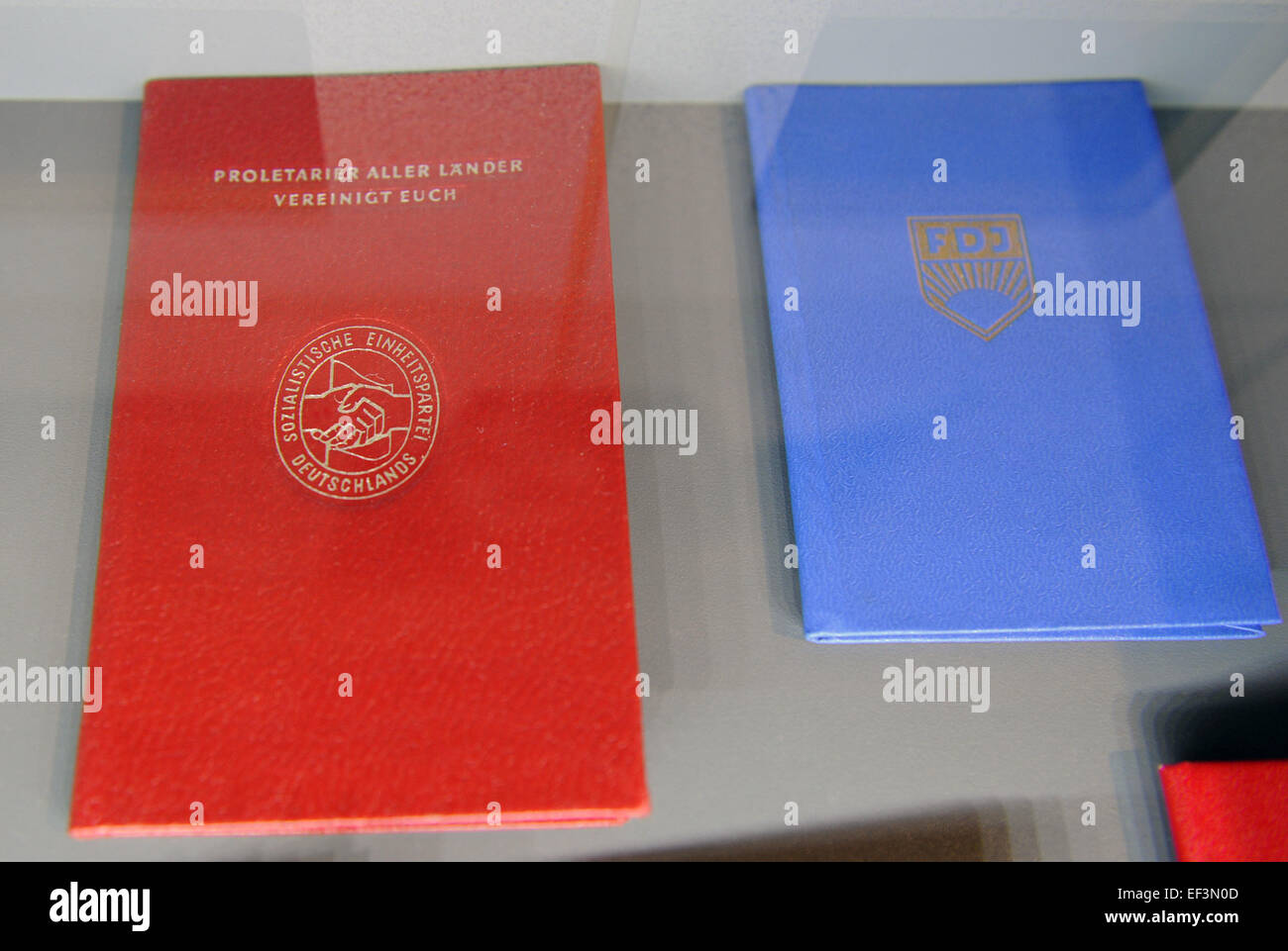 East German. Kaderakte, dossier on every employee in the GDR. DDR Museum. Berlin. Germany. - Stock Image
