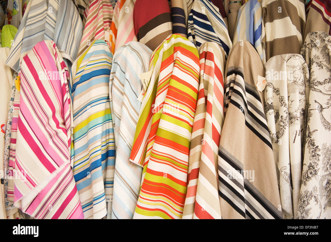 Fabric For Sale In A Shop In Montmartre Paris France Stock Photo