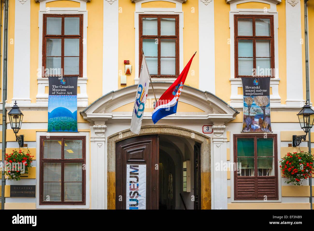 The Croatian Museum of Naive Art in old town Gradec, Zagreb, Croatia - Stock Image