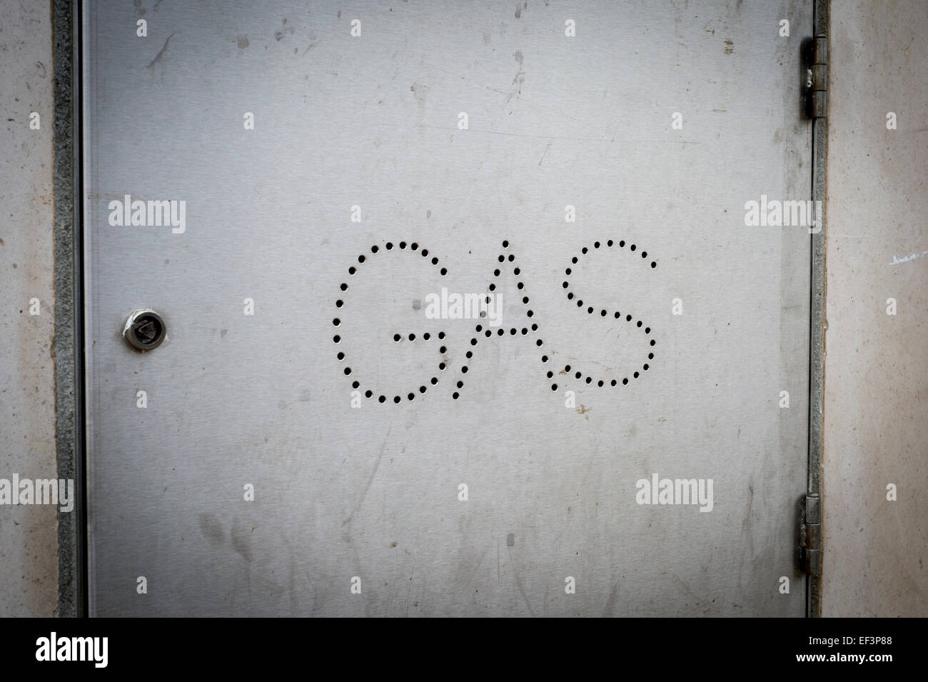 cupboard with Gas utilities - Stock Image