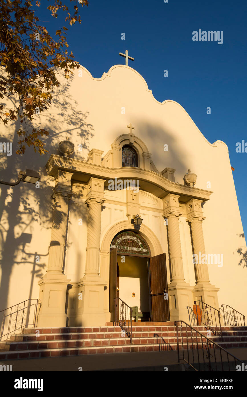Church of the Immaculate Conception in Old Town State Park, San Diego, California. - Stock Image