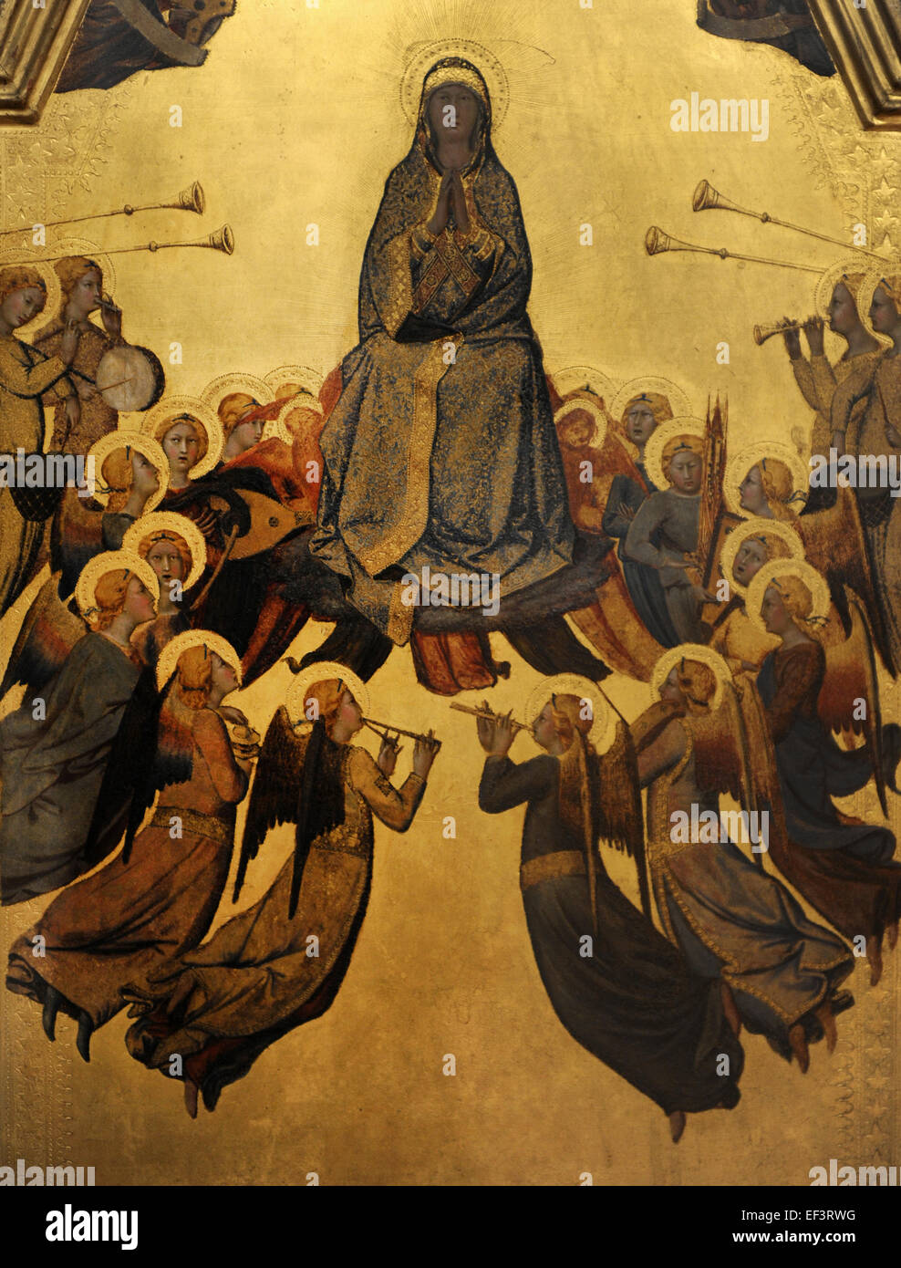 Lippo Memmi (1291-1356). Italian painter from Siena. The Assumption of the  Virgin, 1340. Alte Pinakothek. Munich. Germany.