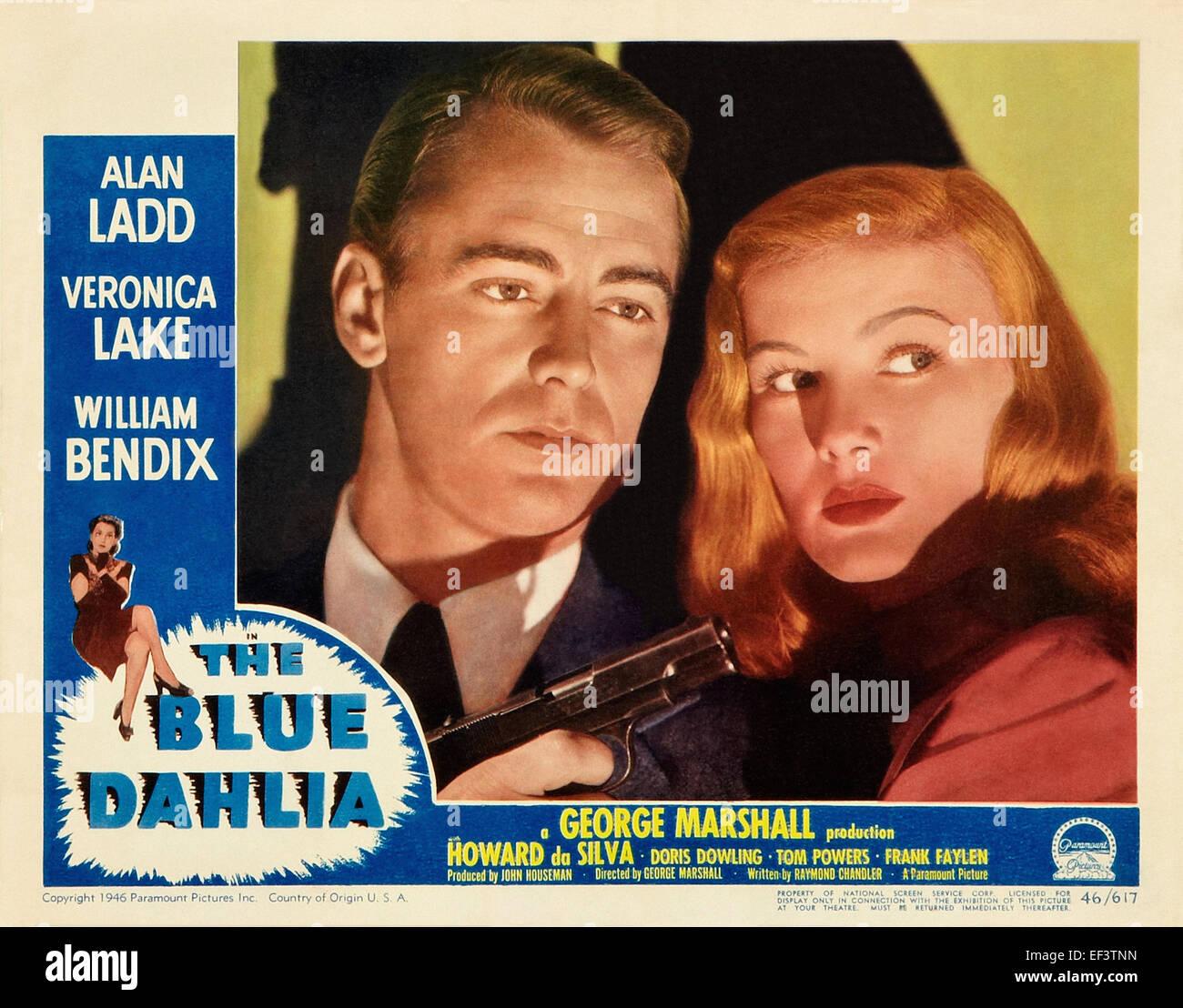 The Blue Dahlia - Veronica Lake, Alan Ladd - Movie Poster - Stock Image