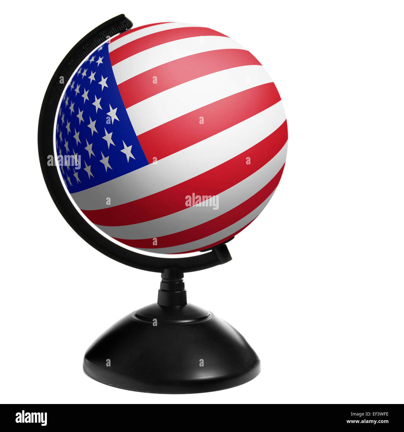 Globe of the USA isolated over white background - Stock Image