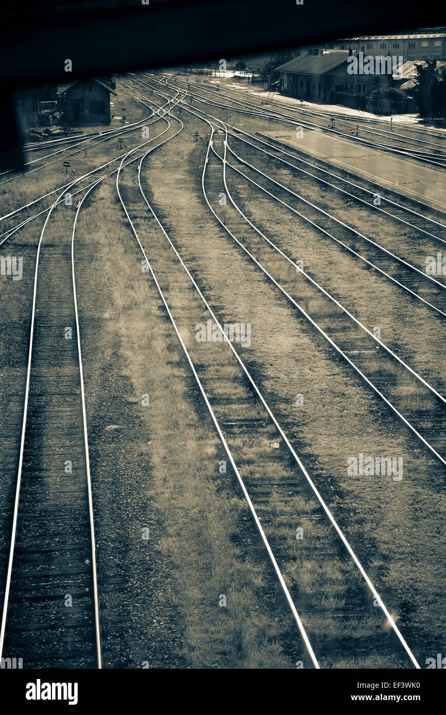 Railway lines - Stock Image