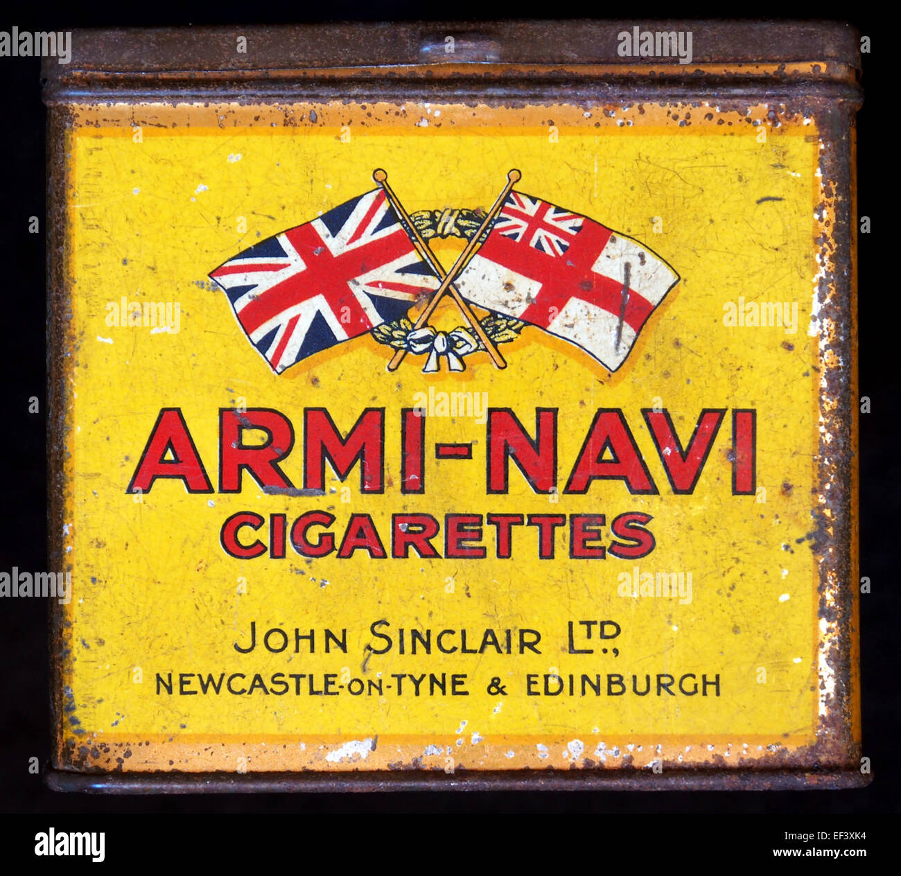 Armi-Navi cigarettes tin, John Sinclair Ltd, Newcastle-on-Tyne & Edinburgh - Stock Image