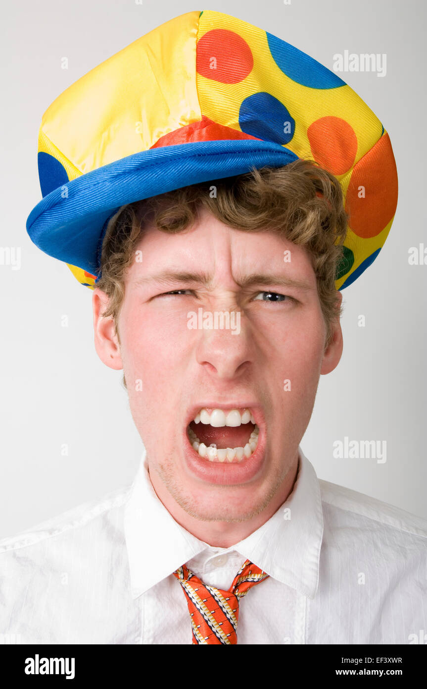 82261a64b Man wearing a silly hat Stock Photo: 78148275 - Alamy