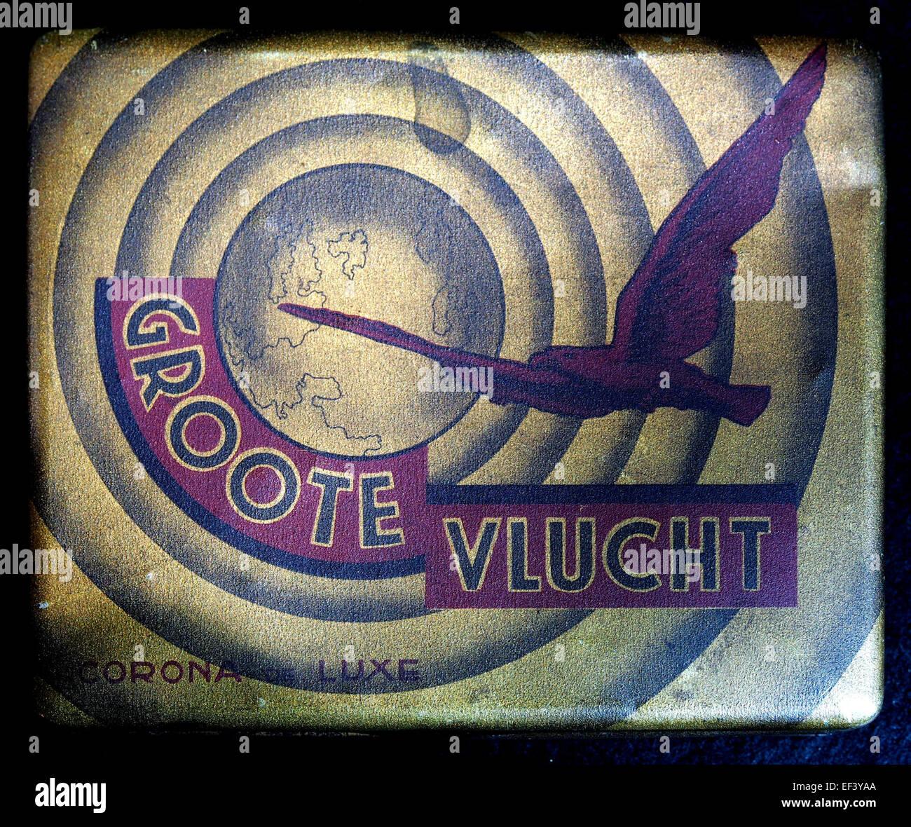 Groote Vlucht, Coroa de Luxe sigarenblikje, foto 1 - Stock Image