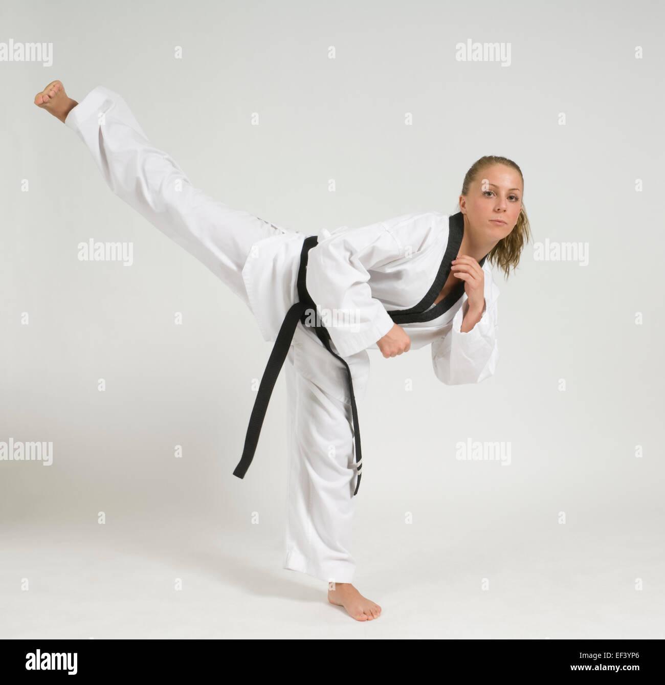 Woman wearing karate uniform  sc 1 st  Alamy & Woman wearing karate uniform Stock Photo: 78148958 - Alamy