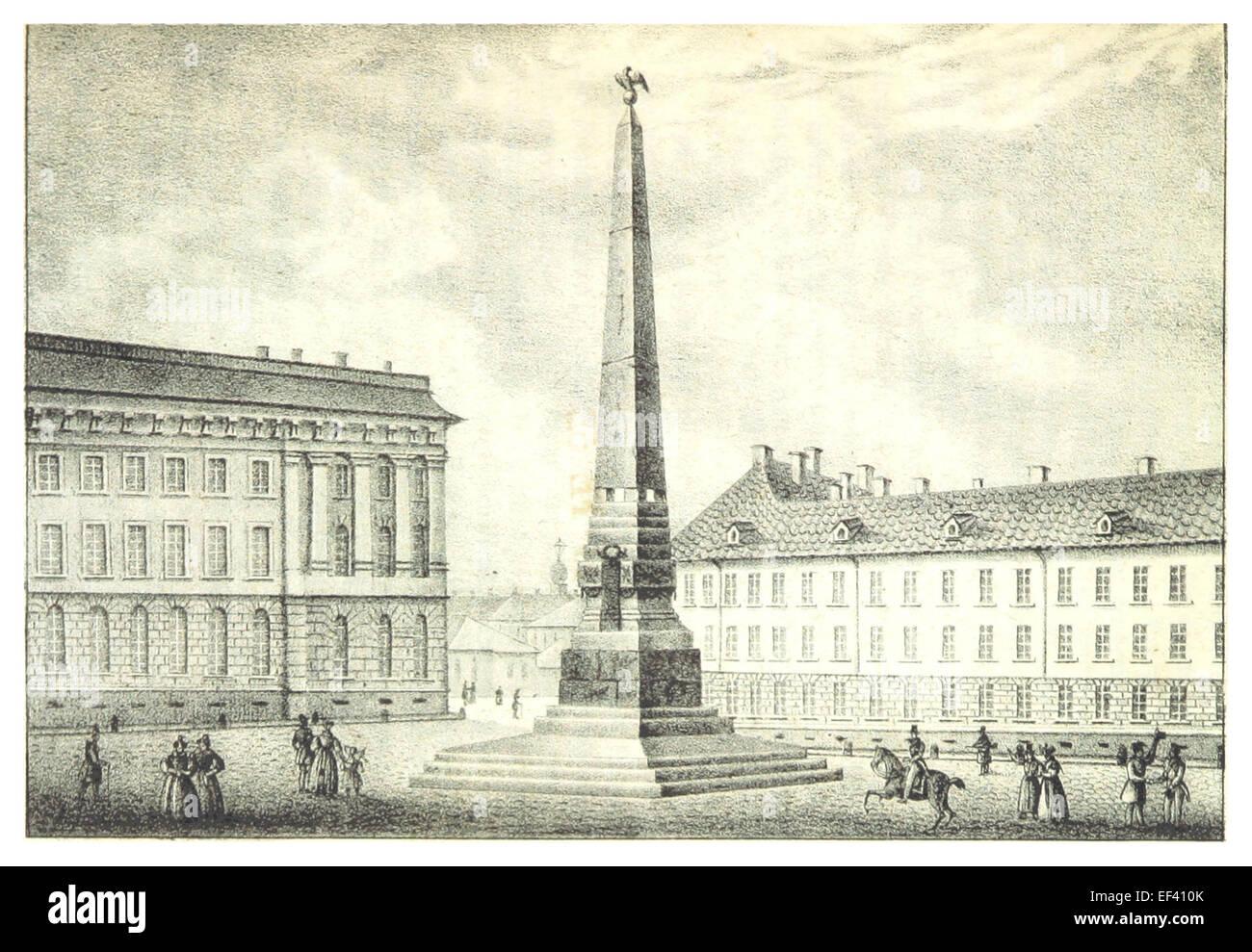 ACHENBACH(1836) p057 OBELISK FÜR FELDMARSCHALL RUMANZOW - Stock Image