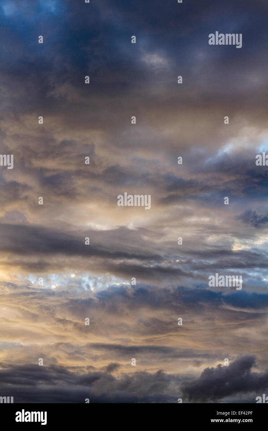 Clouded sky. - Stock Image