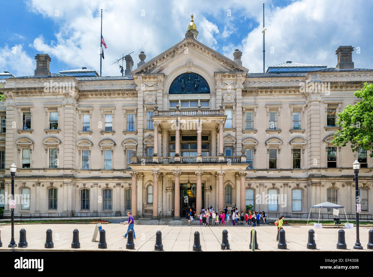 New Jersey State House on West State Street, Trenton, New Jersey, USA - Stock Image
