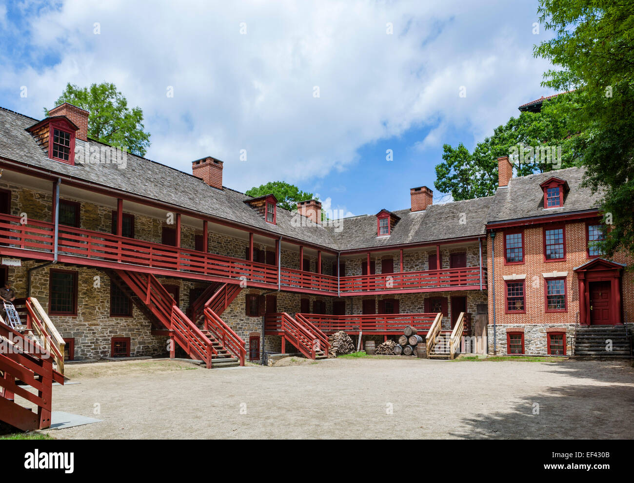 The Old Barracks Museum, Trenton, New Jersey, USA - Stock Image