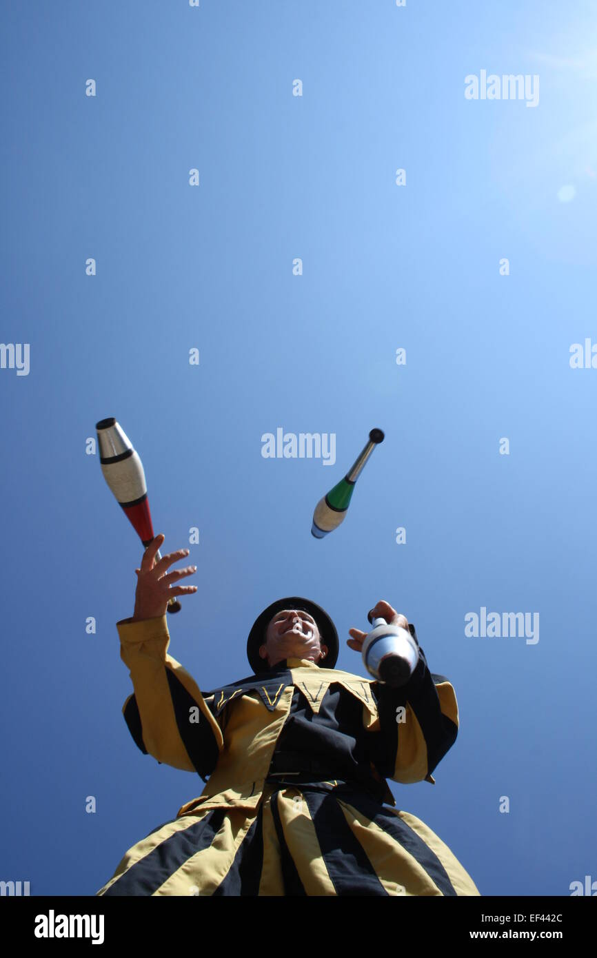 Jester Juggling Clubs - Stock Image