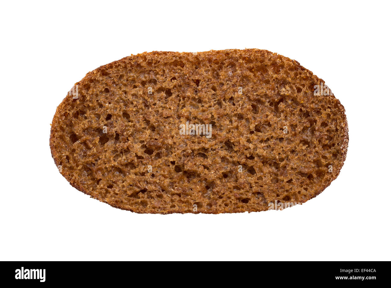 Traditional Finnish rye bread, viewed from above, isolated on white background - Stock Image