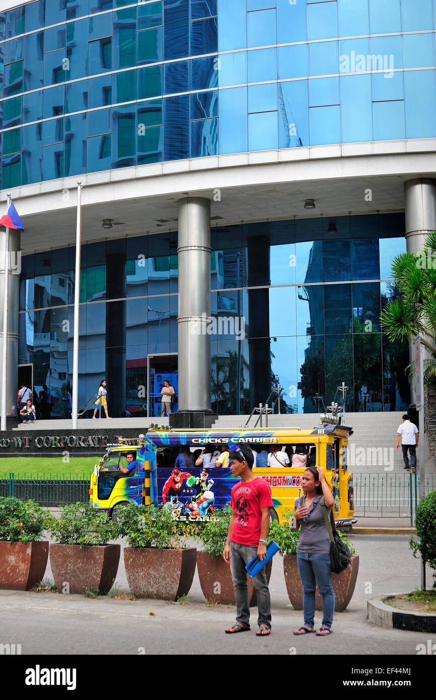Jeepney Cebu Business Park Philippines - Stock Image