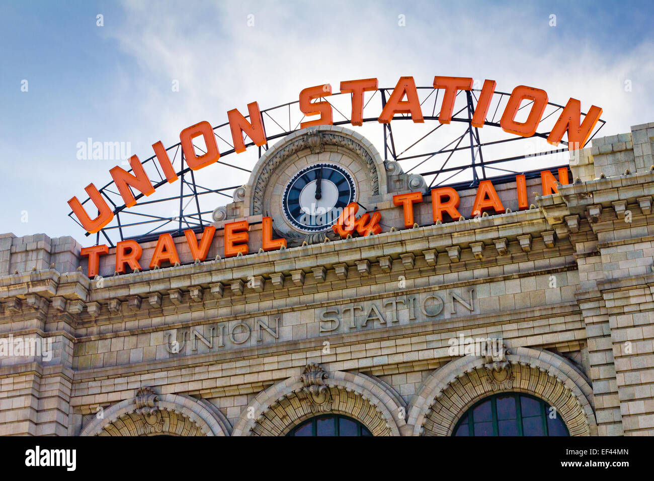 Union Station in downtown Denver, Colorado Stock Photo