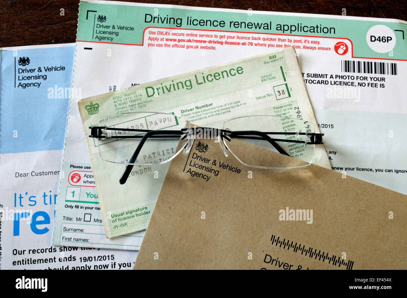 renew driving licence at 70