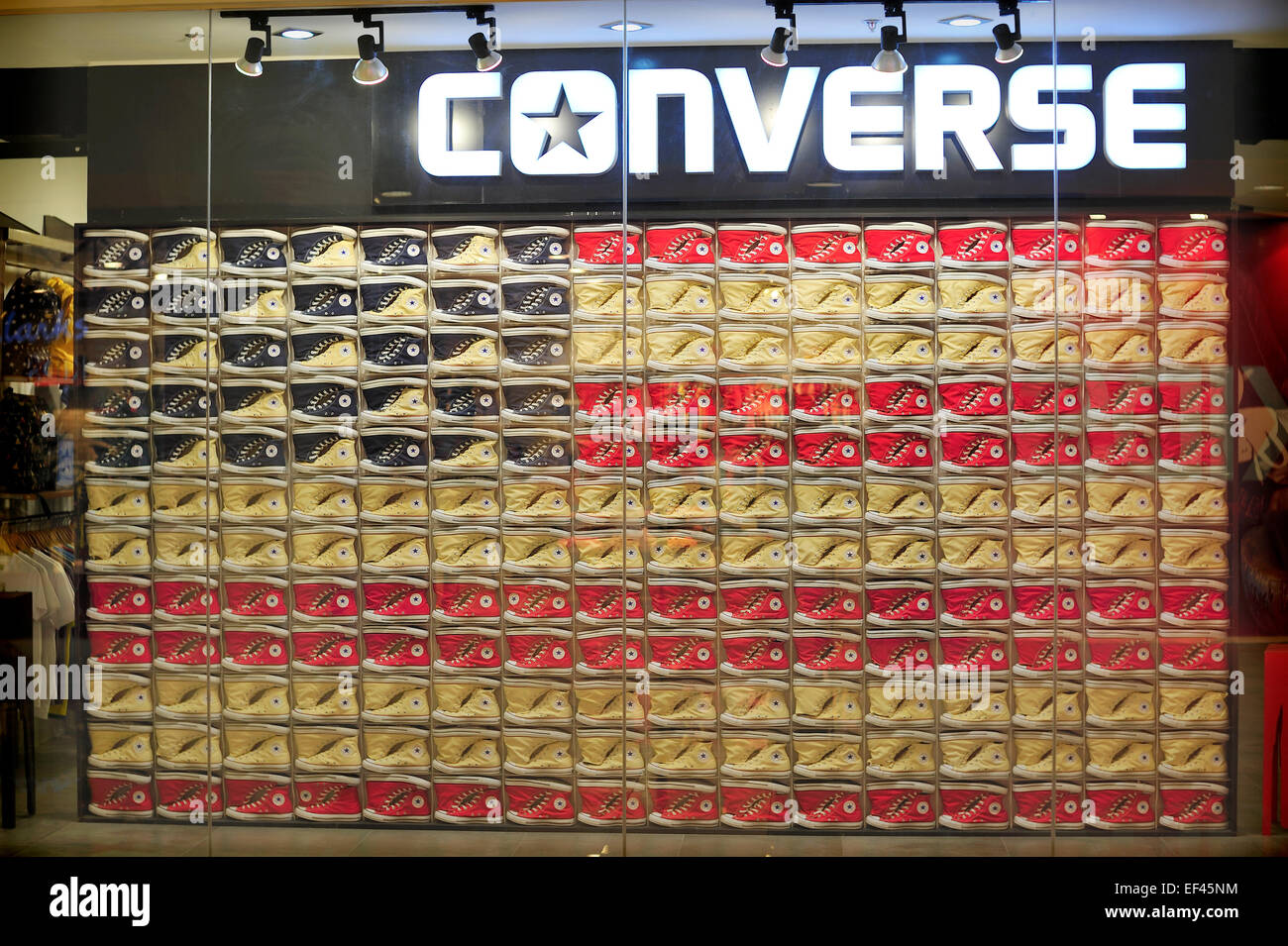 a77a91c3bd22 Display of Converse Sports Shoes Ayala Center Cebu City Philippines - Stock  Image