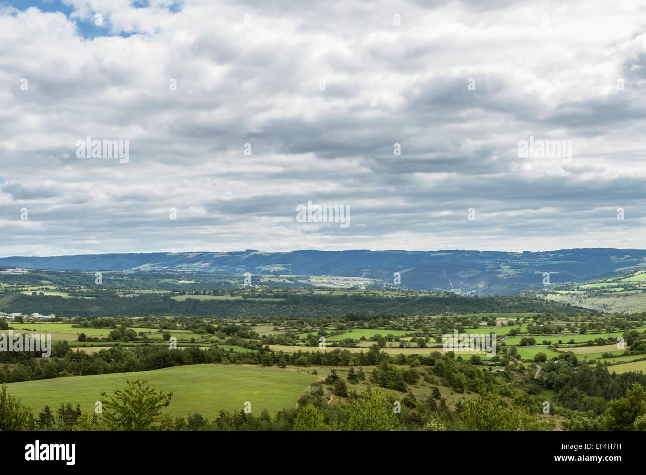 auvergne france landscape - Stock Image