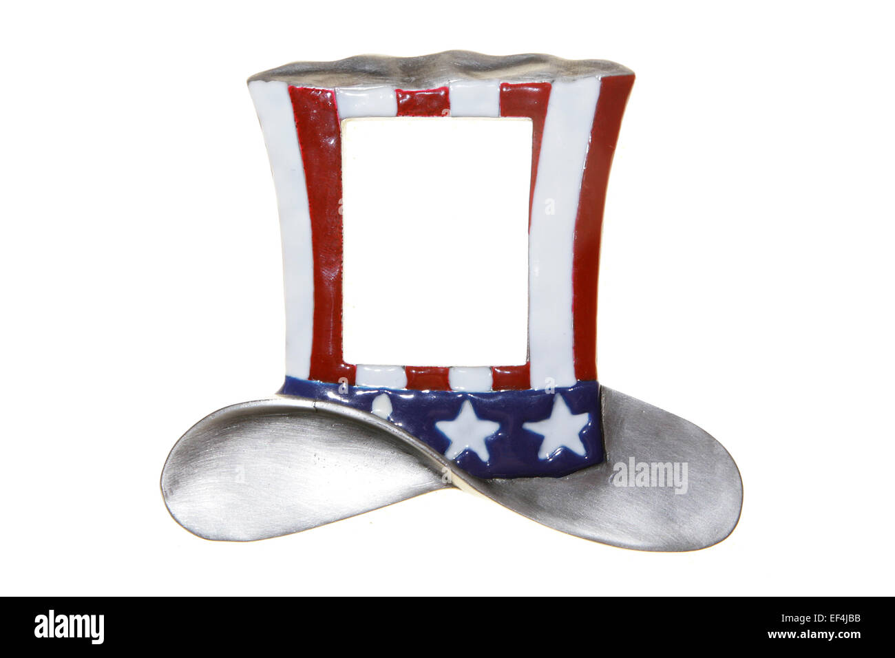 uncle sam hat cylinder isolated decoration frame usa american flag ...