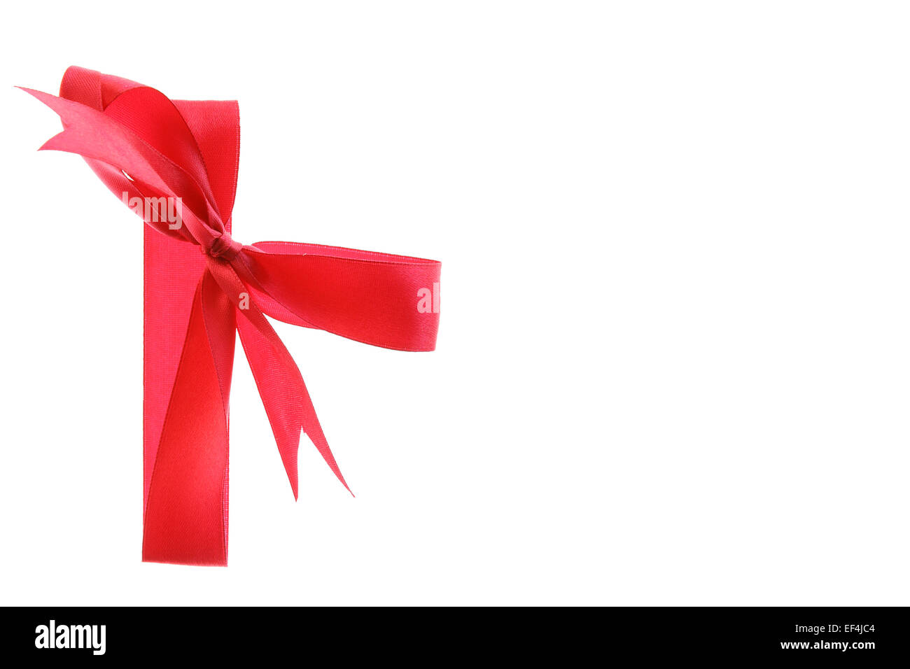 present ribbon red bow gift isolated congratulations birthday celebration happy christmas card holiday Stock Photo
