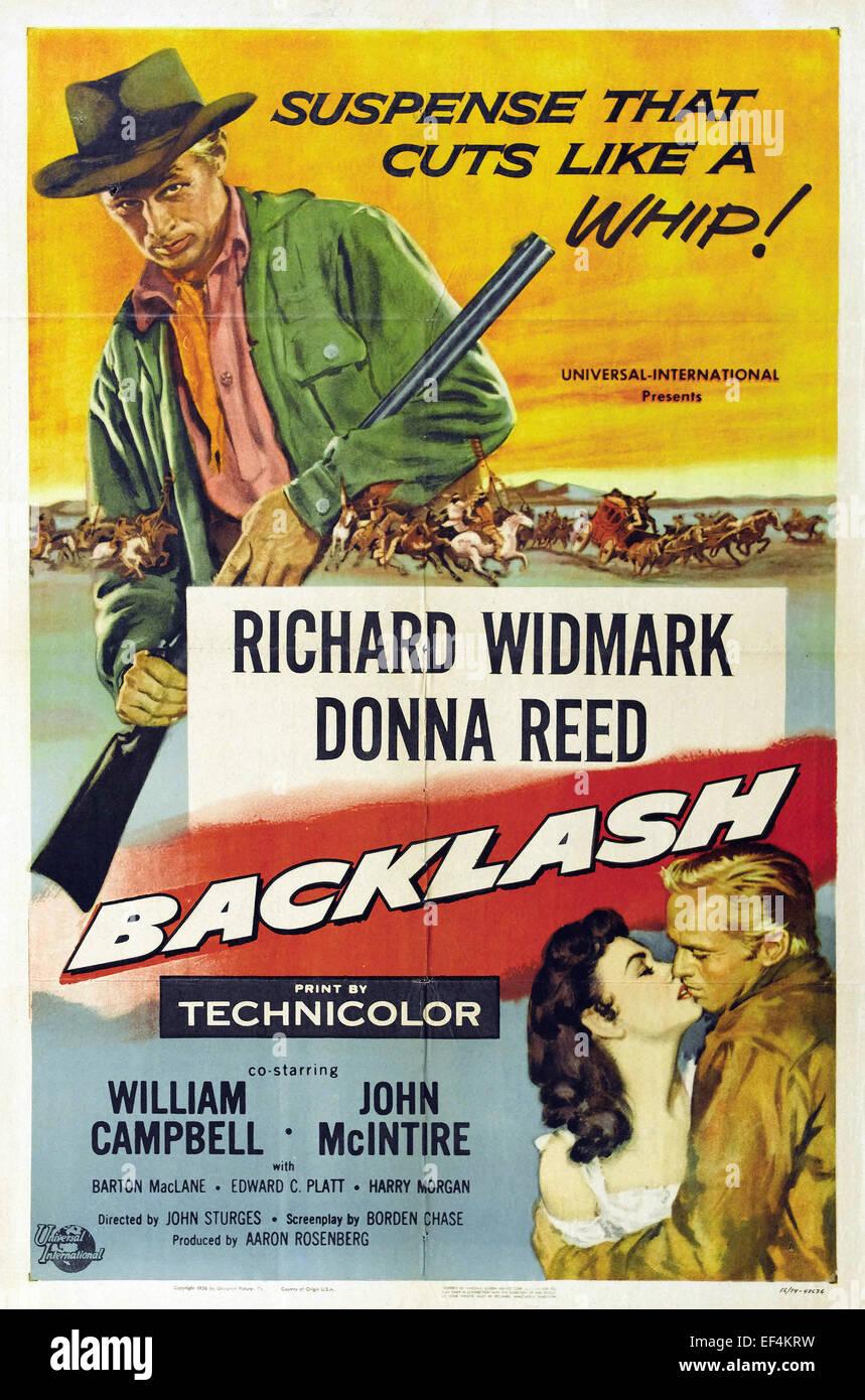 Backlash - 1956 - Movie Poster Stock Photo