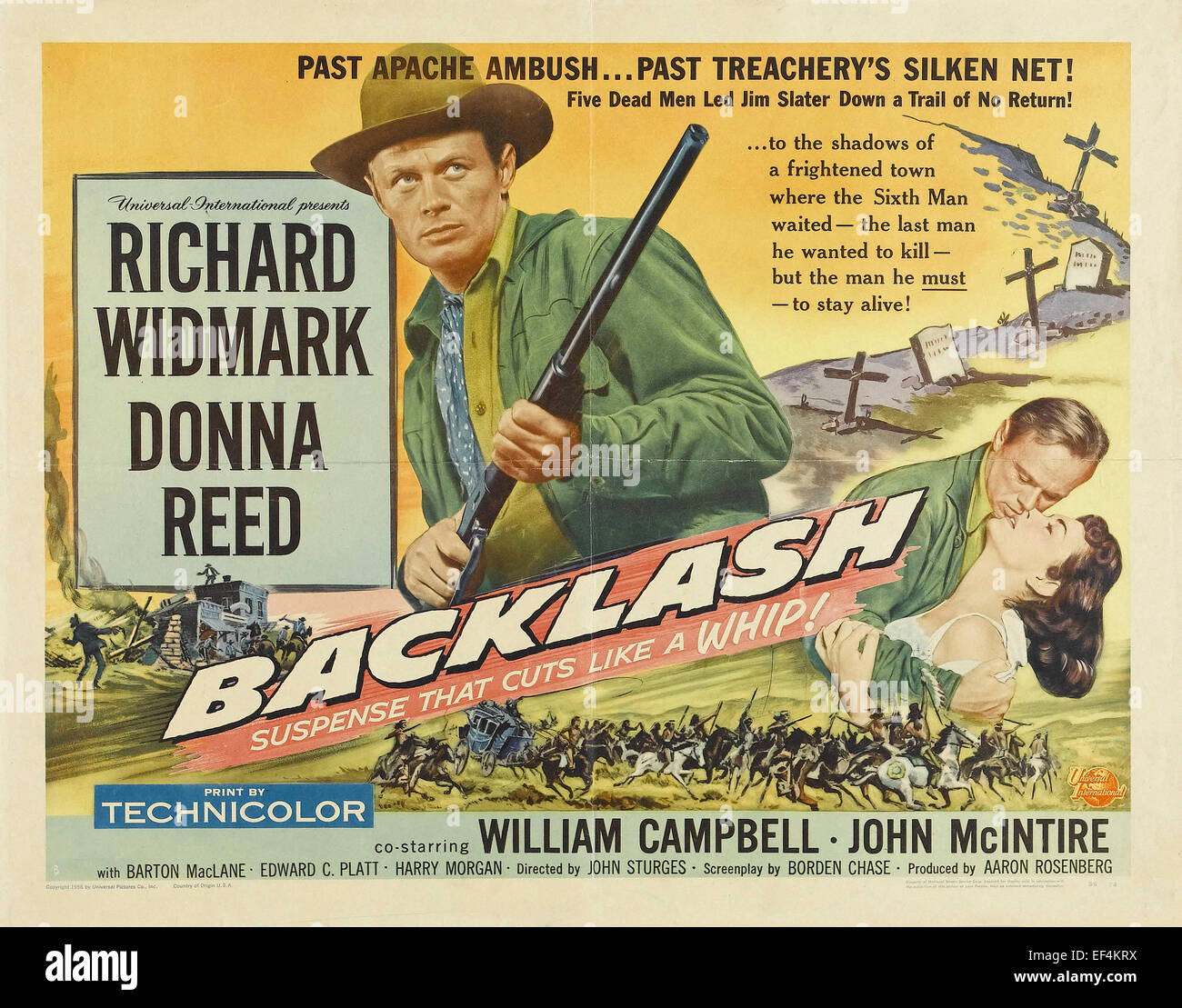 Backlash - 1956 - Movie Poster Stock Photo