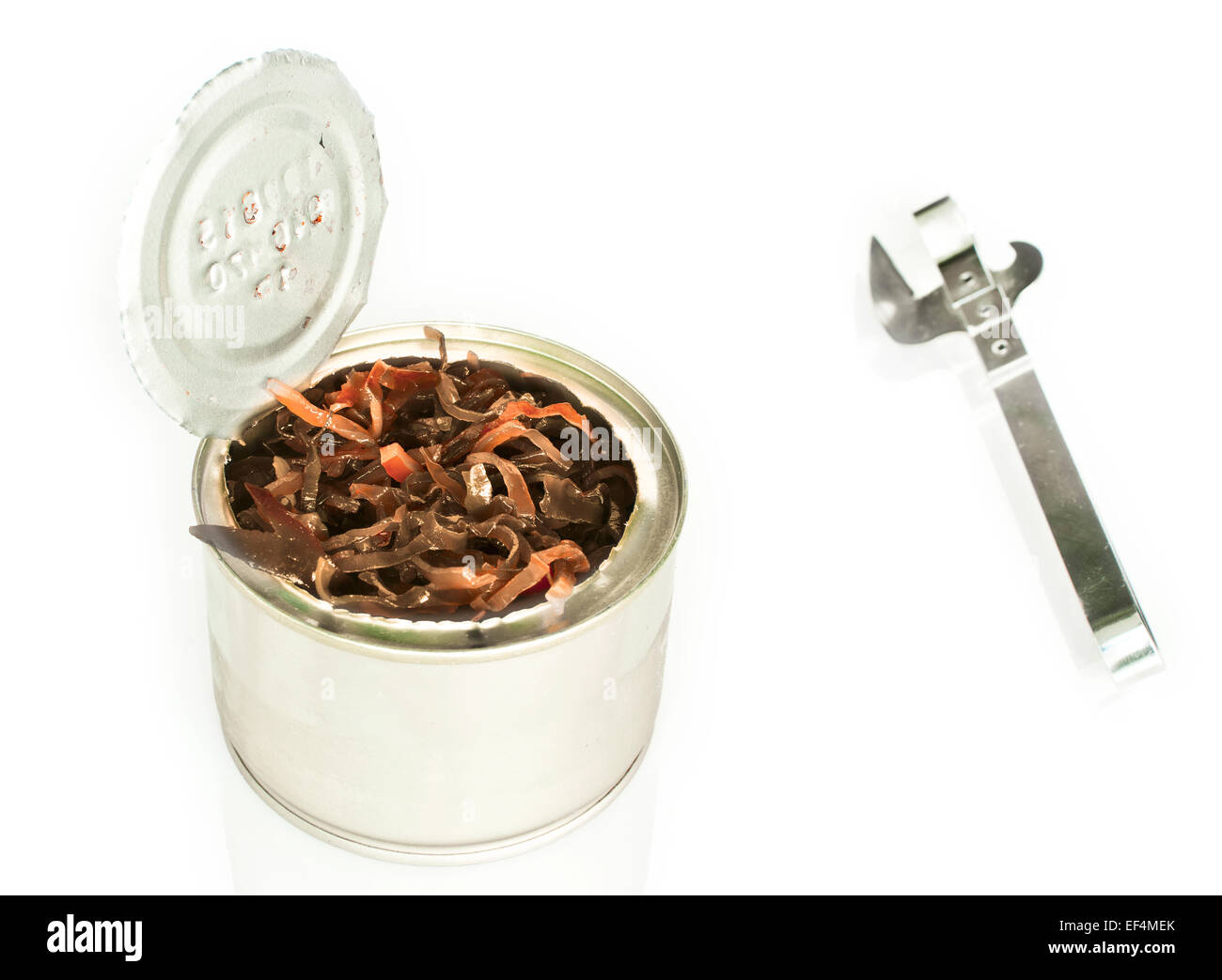 canned seaweeds - Stock Image