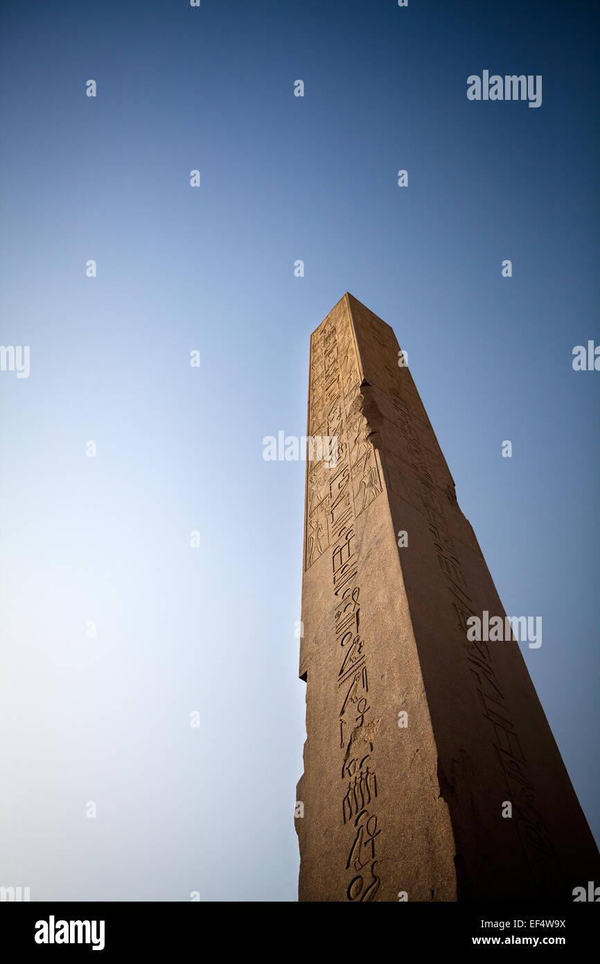 Pillar in Aswan Temple - Stock Image