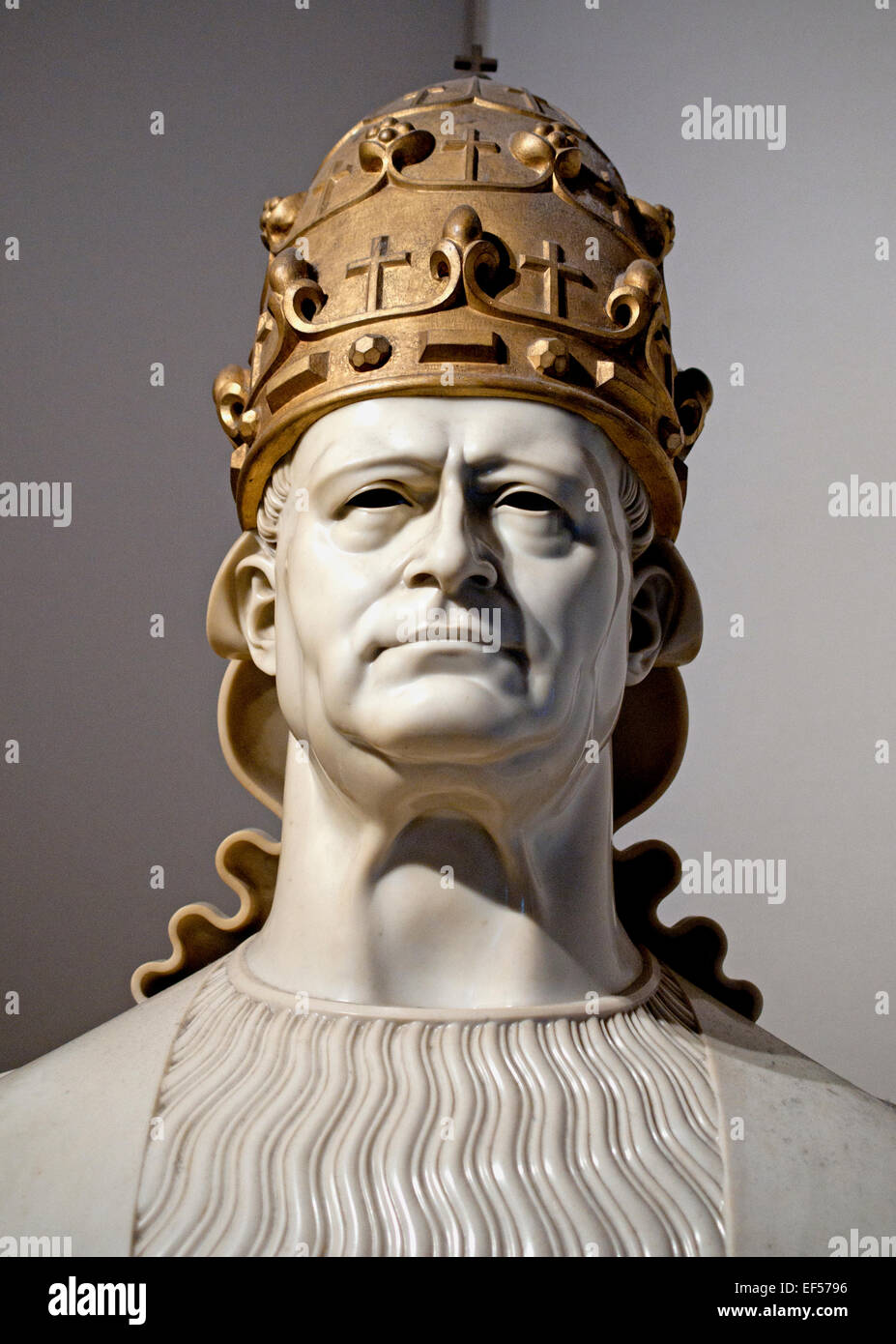Bust of  Pope Pius XI 1931 Adolfo Wildt Italian  1868-1931  Vatican Rome Italy - Stock Image