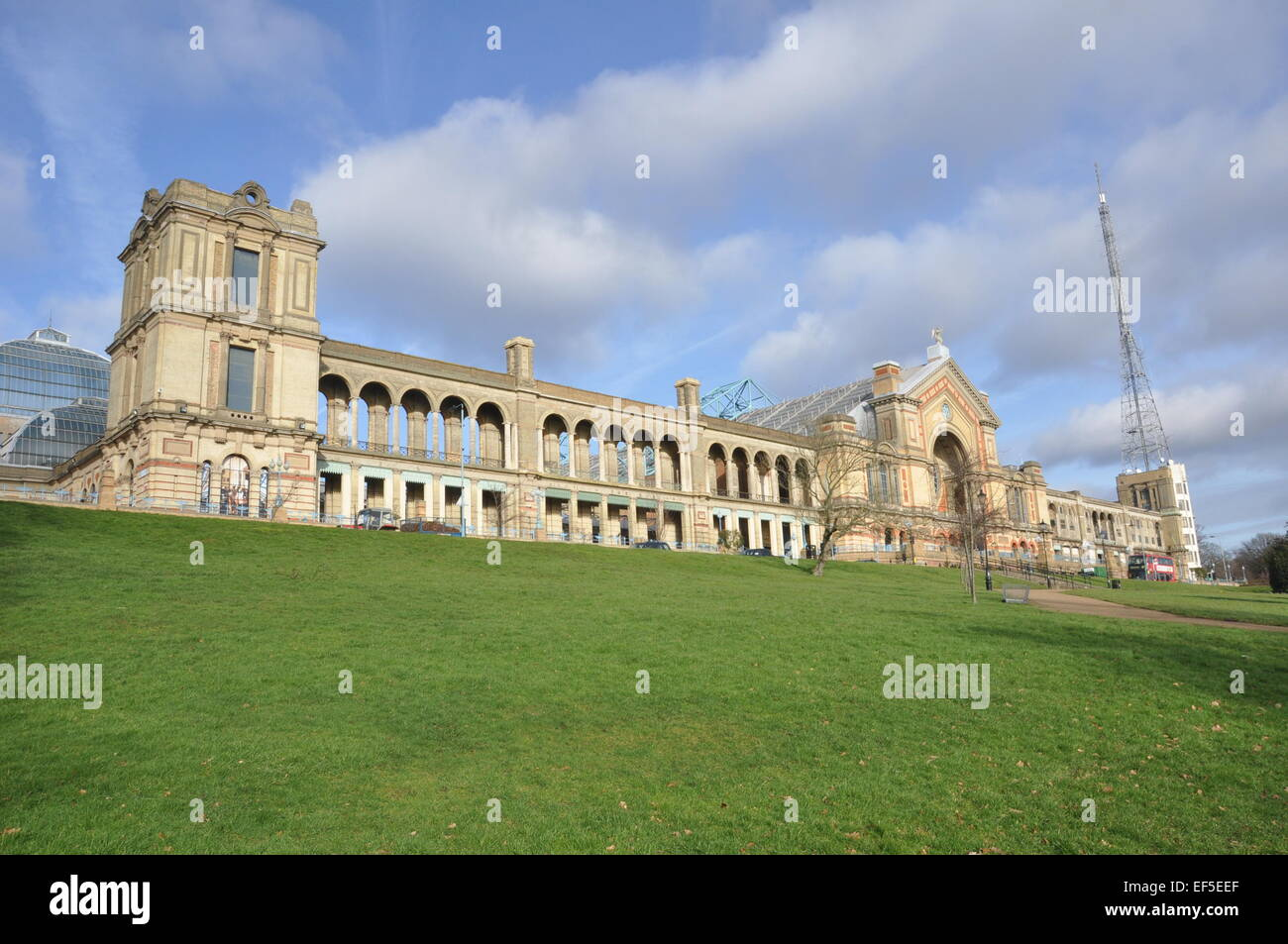 Alexandra Palace is a historic entertainment venue in Alexandra Park, London. It is located between Muswell Hill - Stock Image
