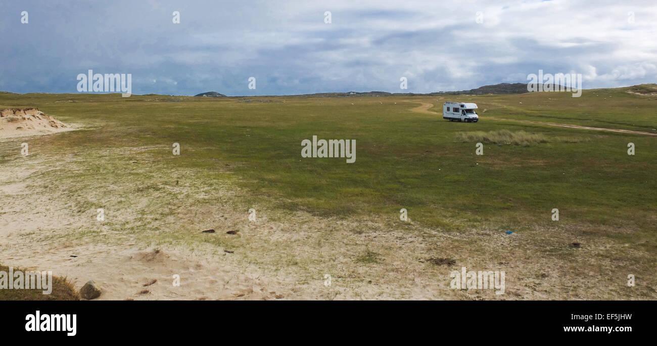 Motorhome wild camping Ireland - Stock Image