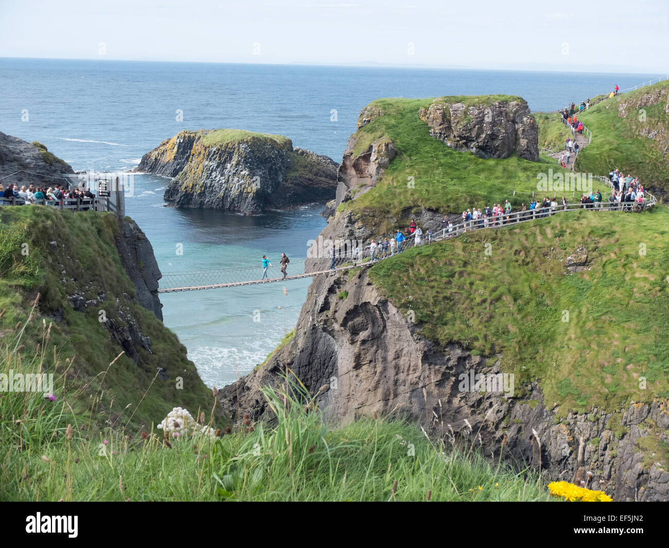 Carrick-a-Rede Rope Bridge Northern Ireland - Stock Image