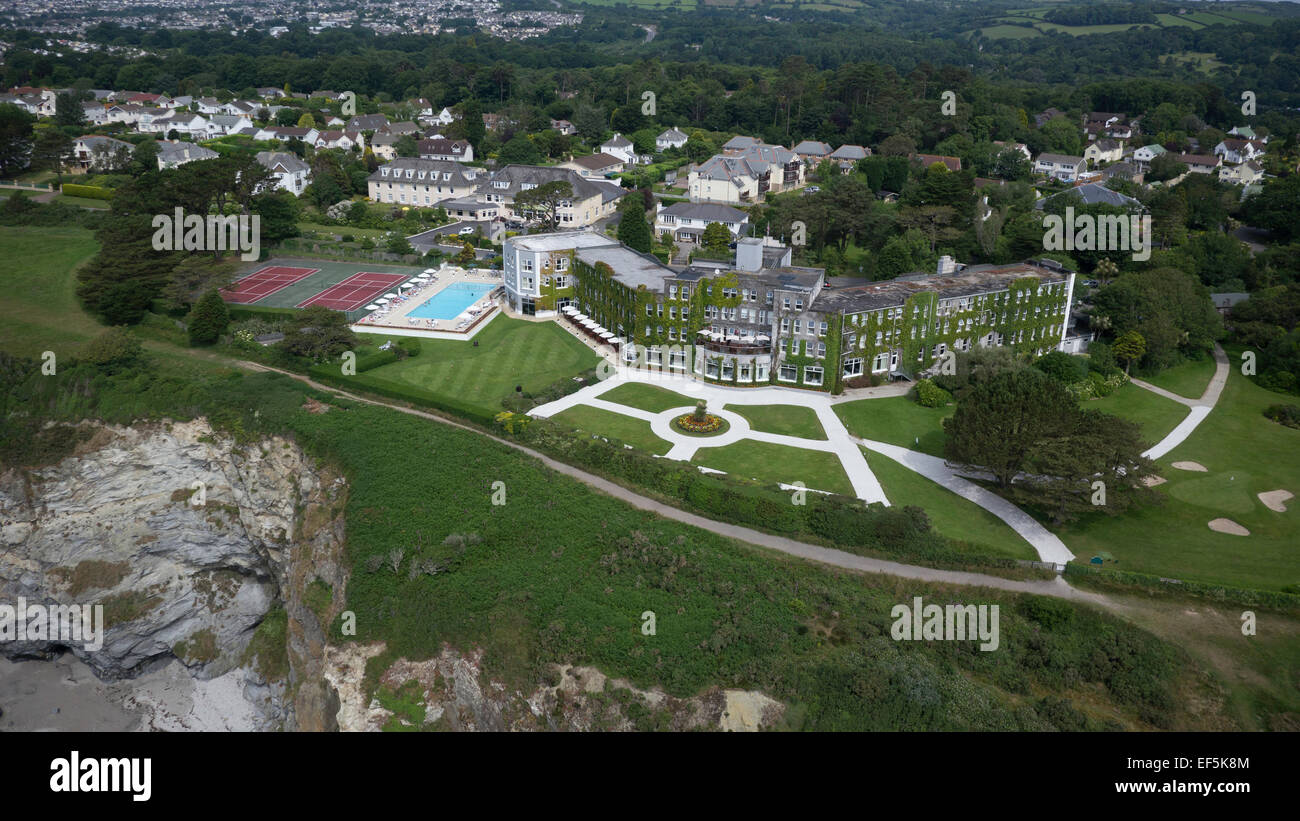 Aerial photographs of Carlyon bay golf course and hotel - Stock Image
