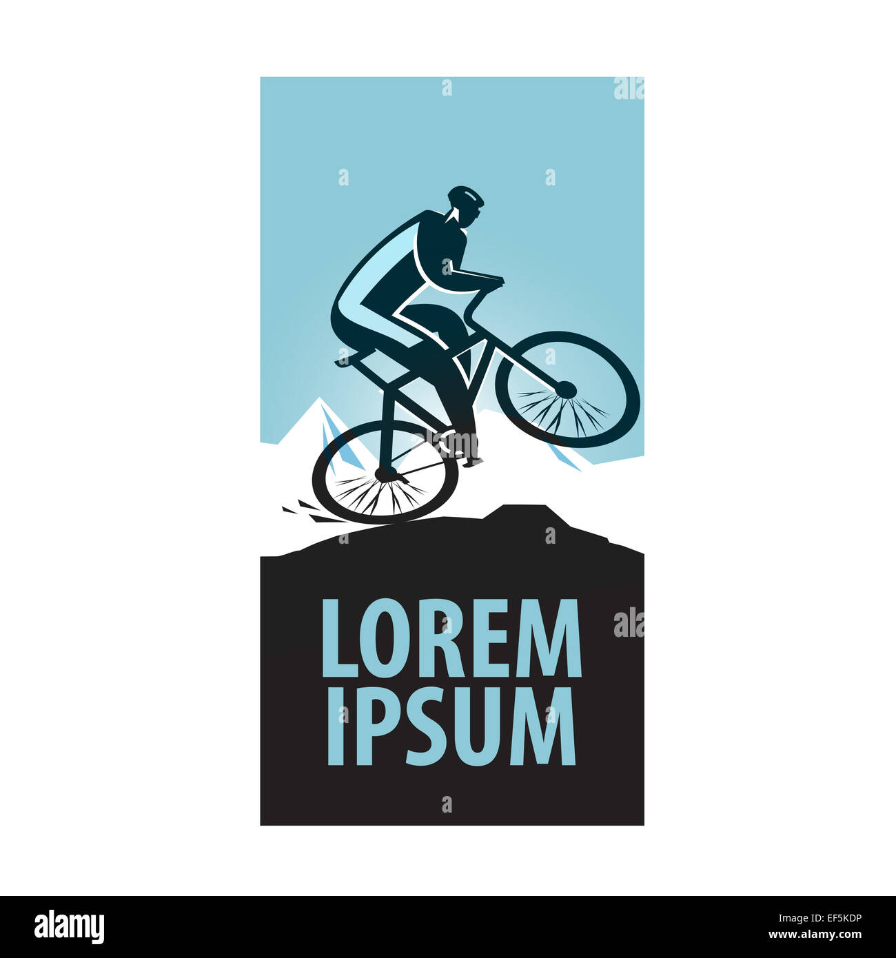 Blank white sport bicycle with ad banner mock up, isolated. Clear.