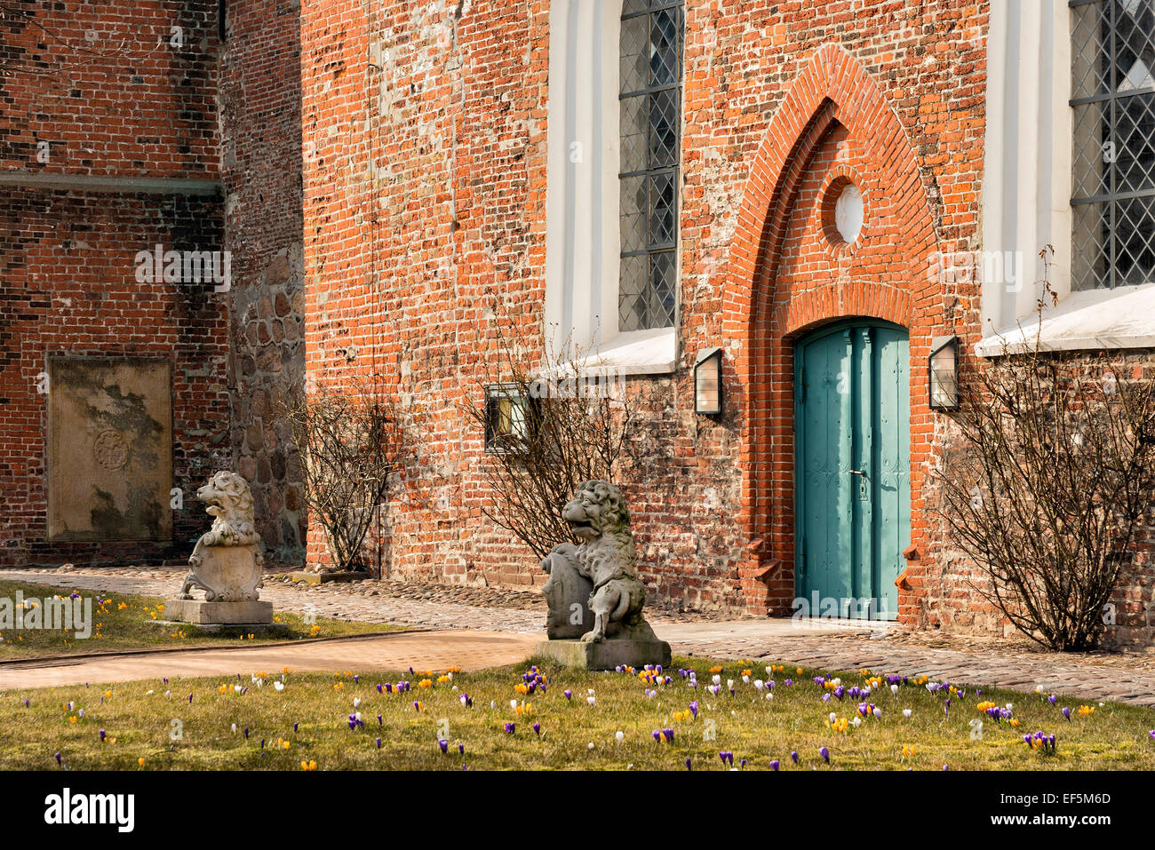 Image of church in Tonning, Northern Germany - Stock Image