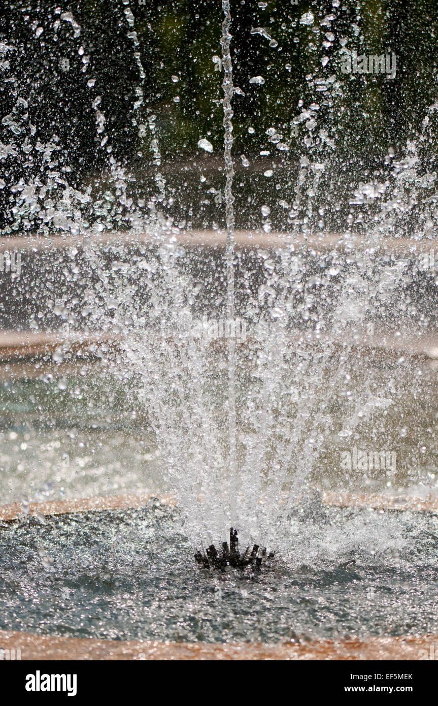 Water gush nozzle splashing device detail - Stock Image