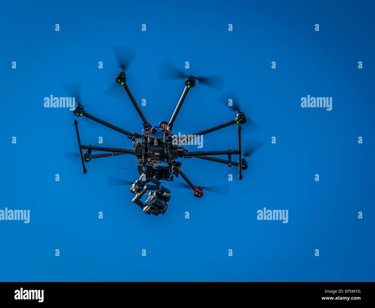 DJI S1000, Radio Controlled Drone flying with a camera, Iceland. - Stock Image