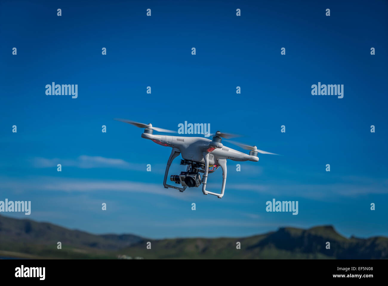 DJI Phantom 2 Vision drone with a Gopro hero 3 camera. - Stock Image